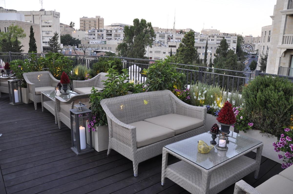 The Garden Terrace in Jerusalem - Waldorf Astoria Rooftop Bar