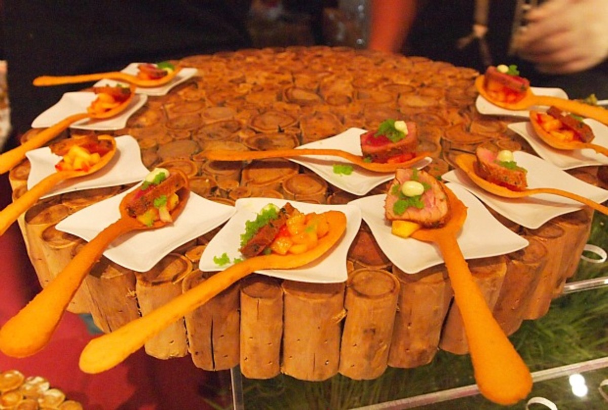 Edible Spoons at Kosher Food and Wine Experience