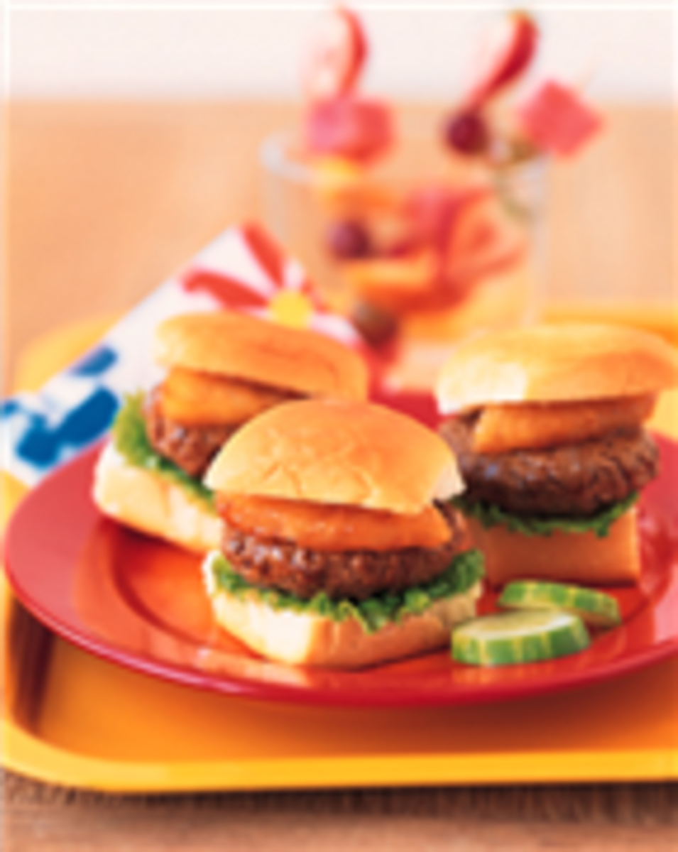 Sweet Hawaiian Mini Burgers