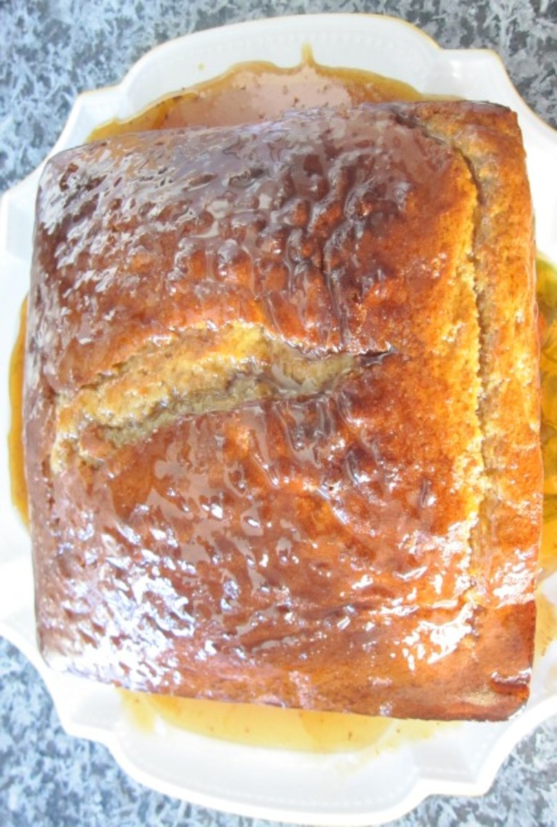 Yogurt Cake with Honey Syrup