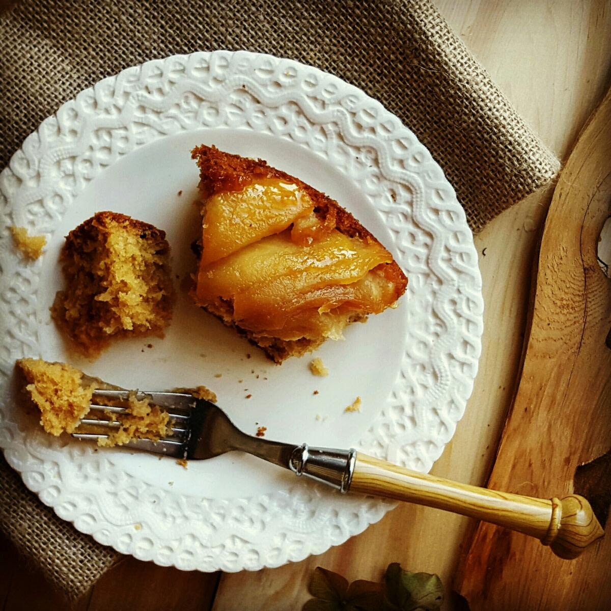 Maple apple tart slice