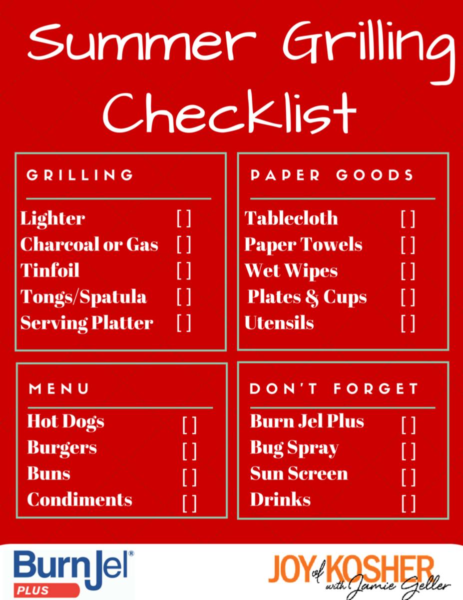 Summer Grilling Checklist