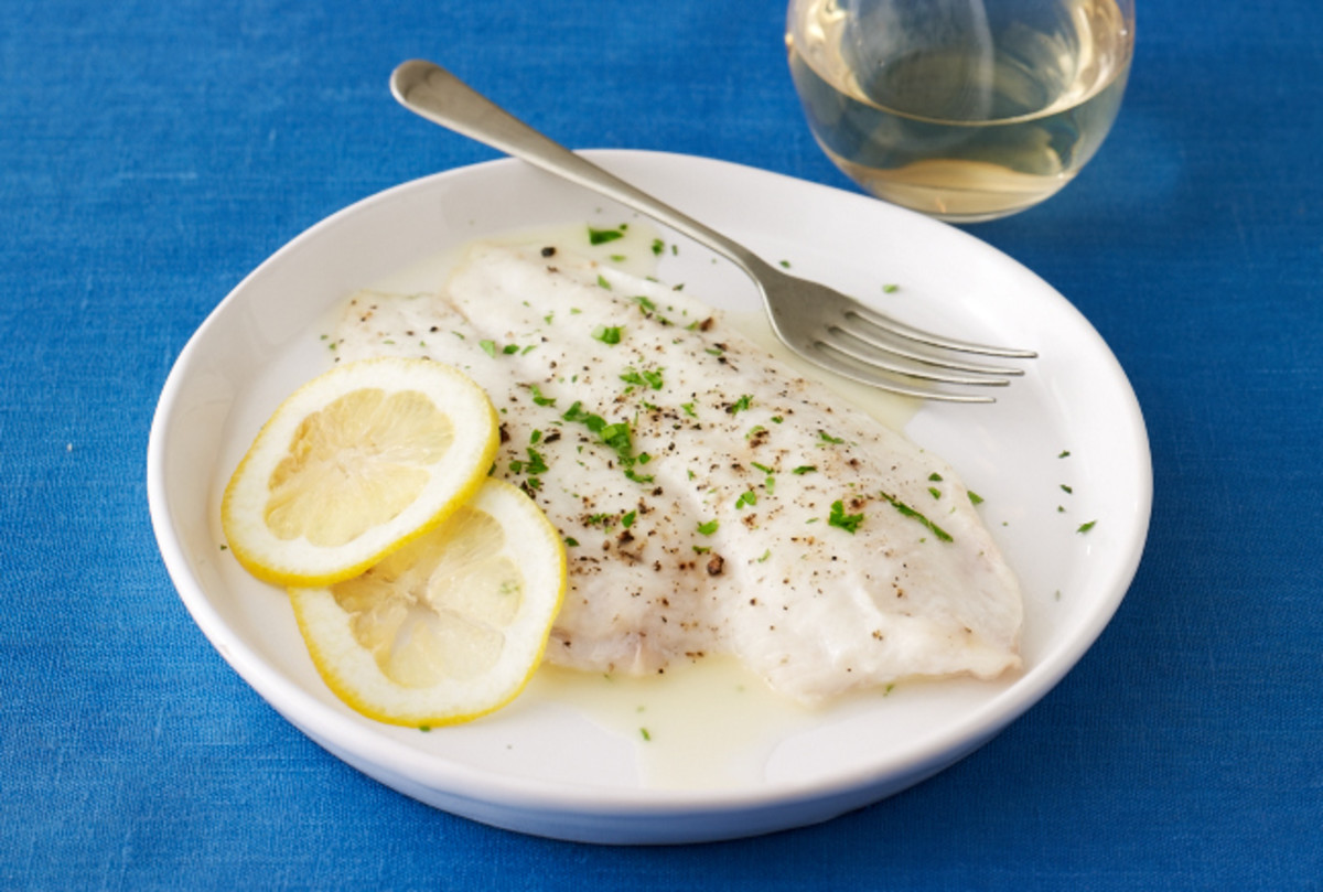 Lemon and White Wine Broiled Sole