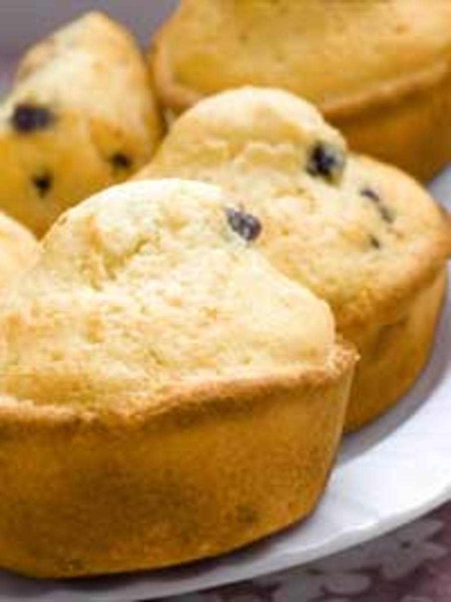 Wild Blueberry Corn Muffins