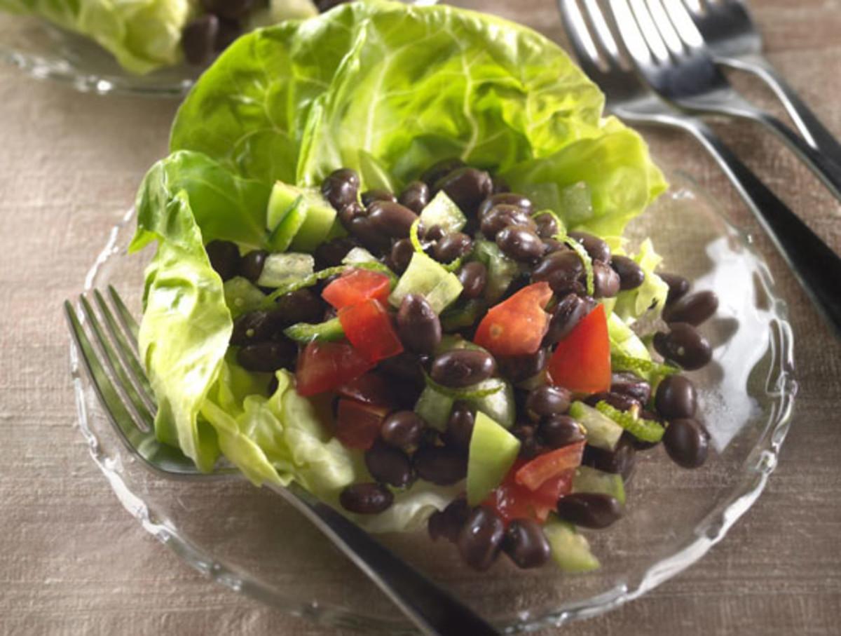 Lime-Zested Tomatillo-Black Bean Salad
