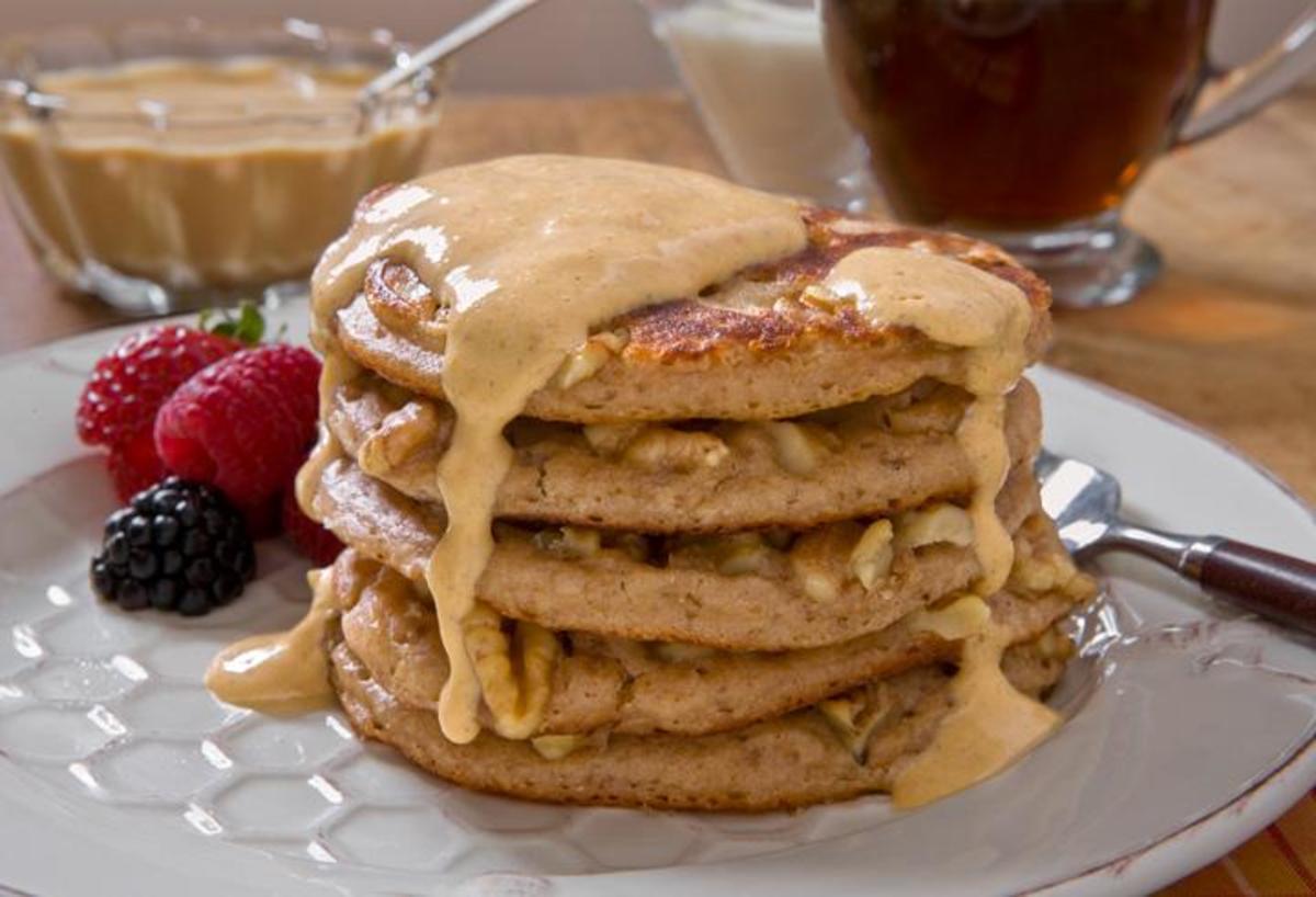 Walnut Whole Wheat Pancakes