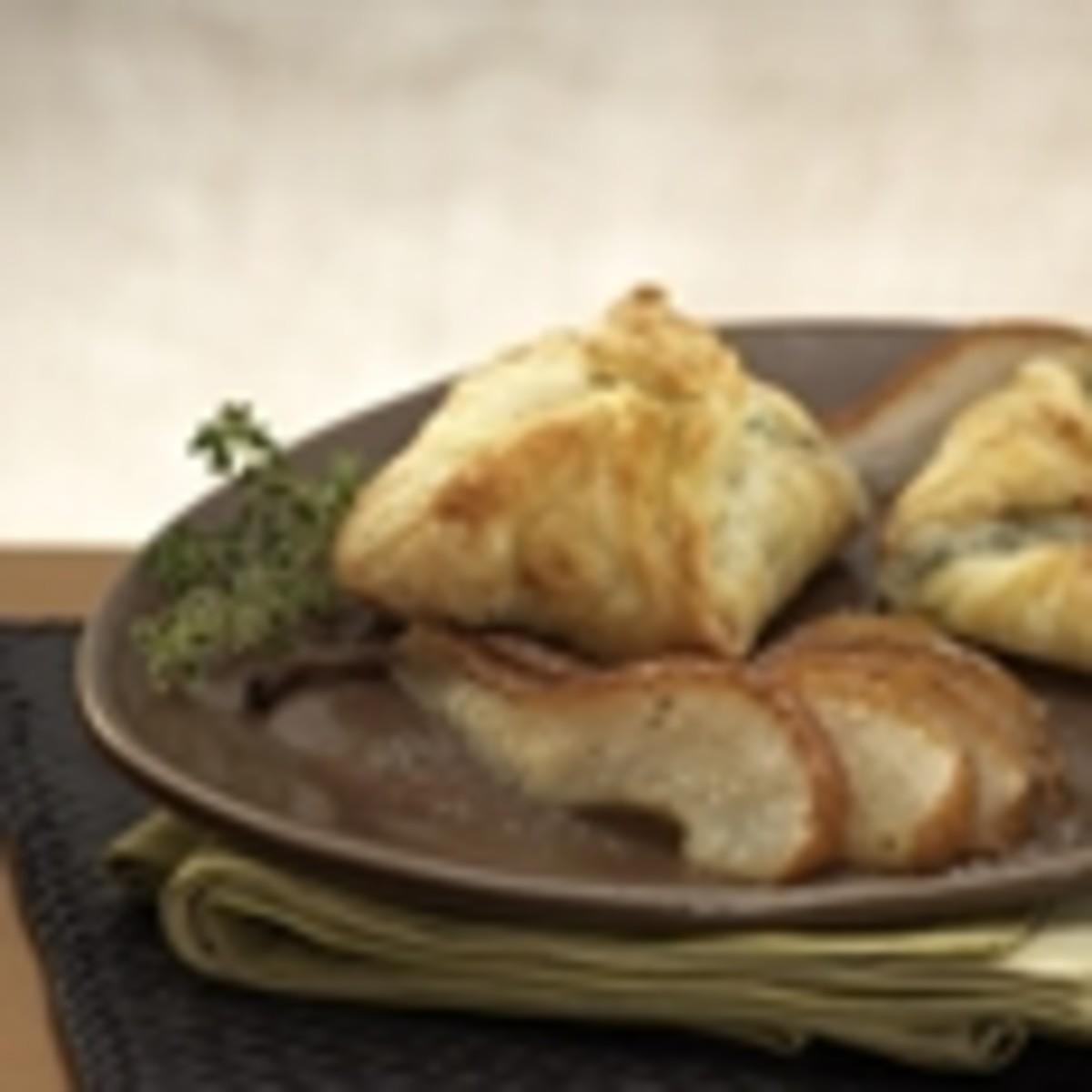 Warm Gorgonzola Turnovers with Caramelized Pears