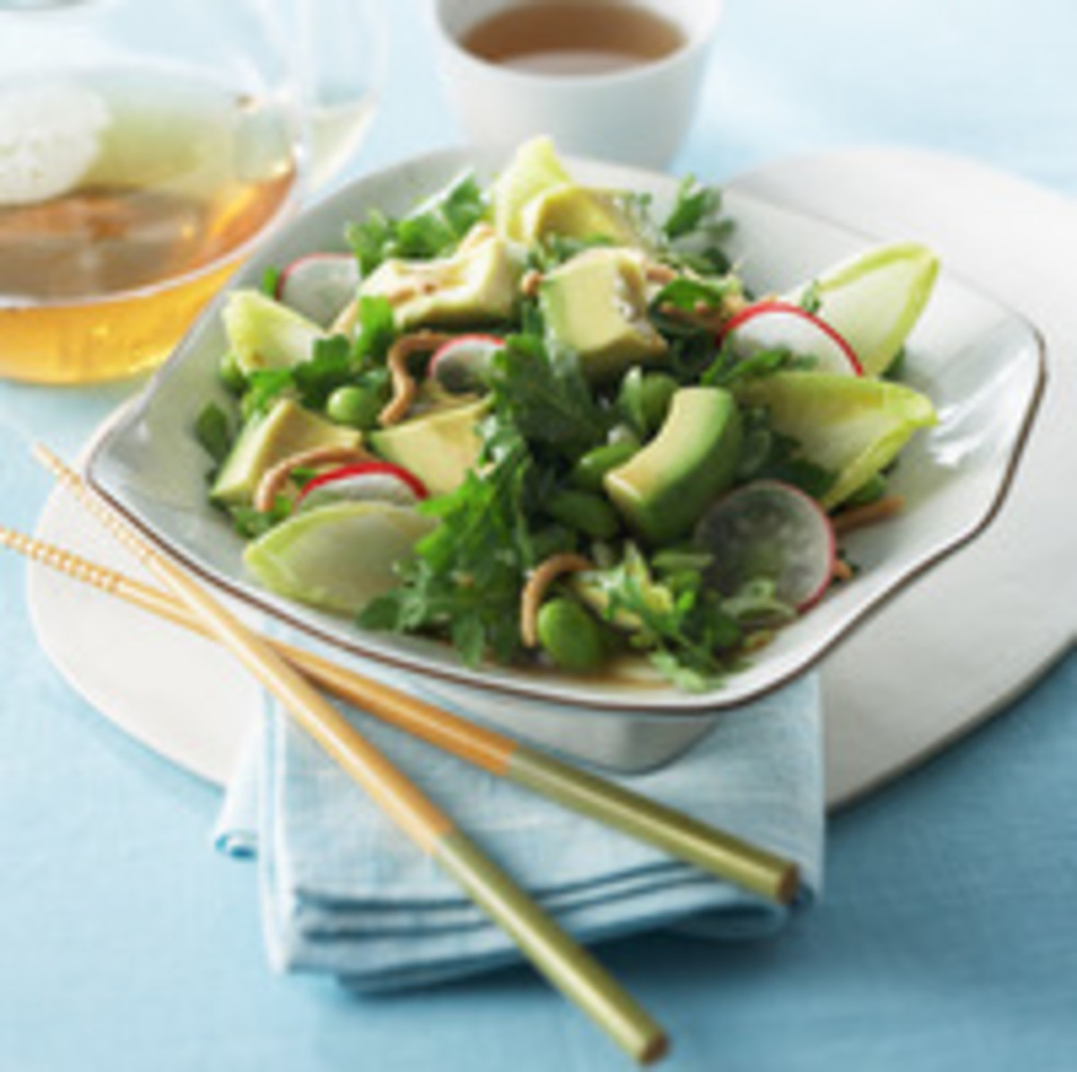 Avocado, Edamame and Radish Asian Salad