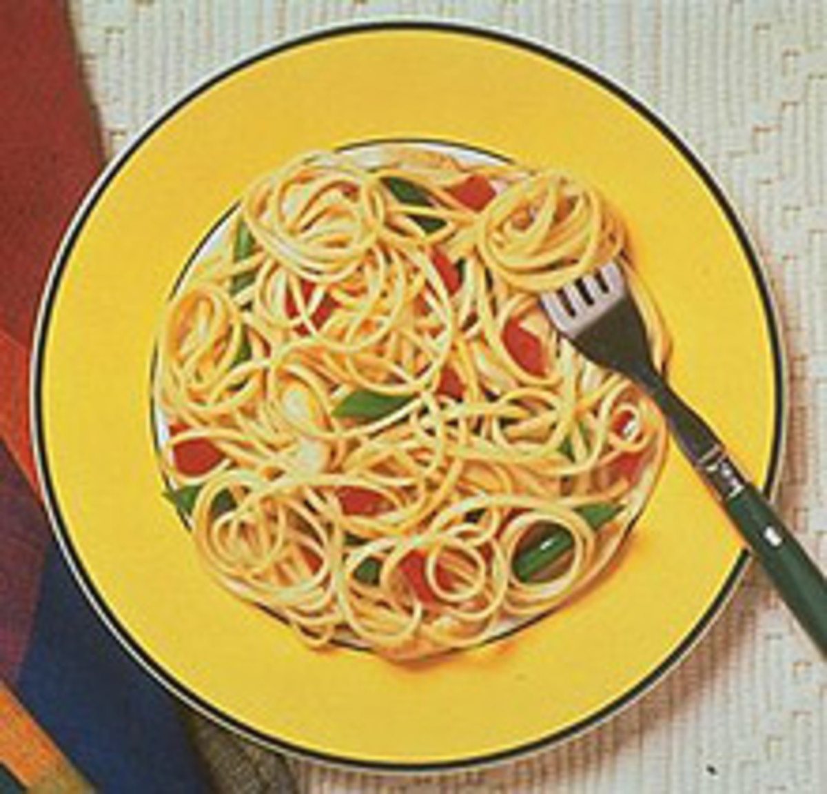 Linguine Stir-Fry with Green Beans and Garlic