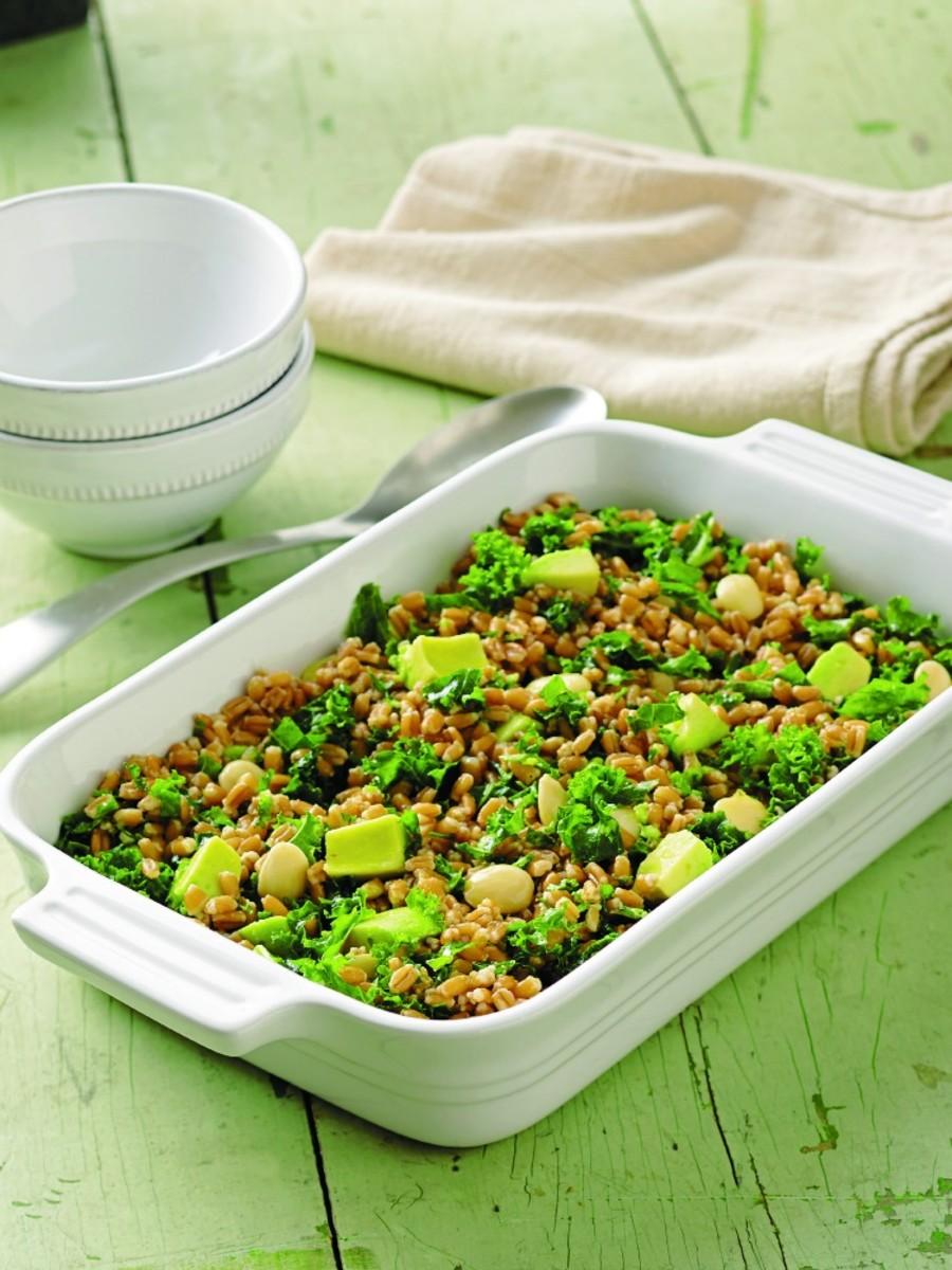 kale farro salad