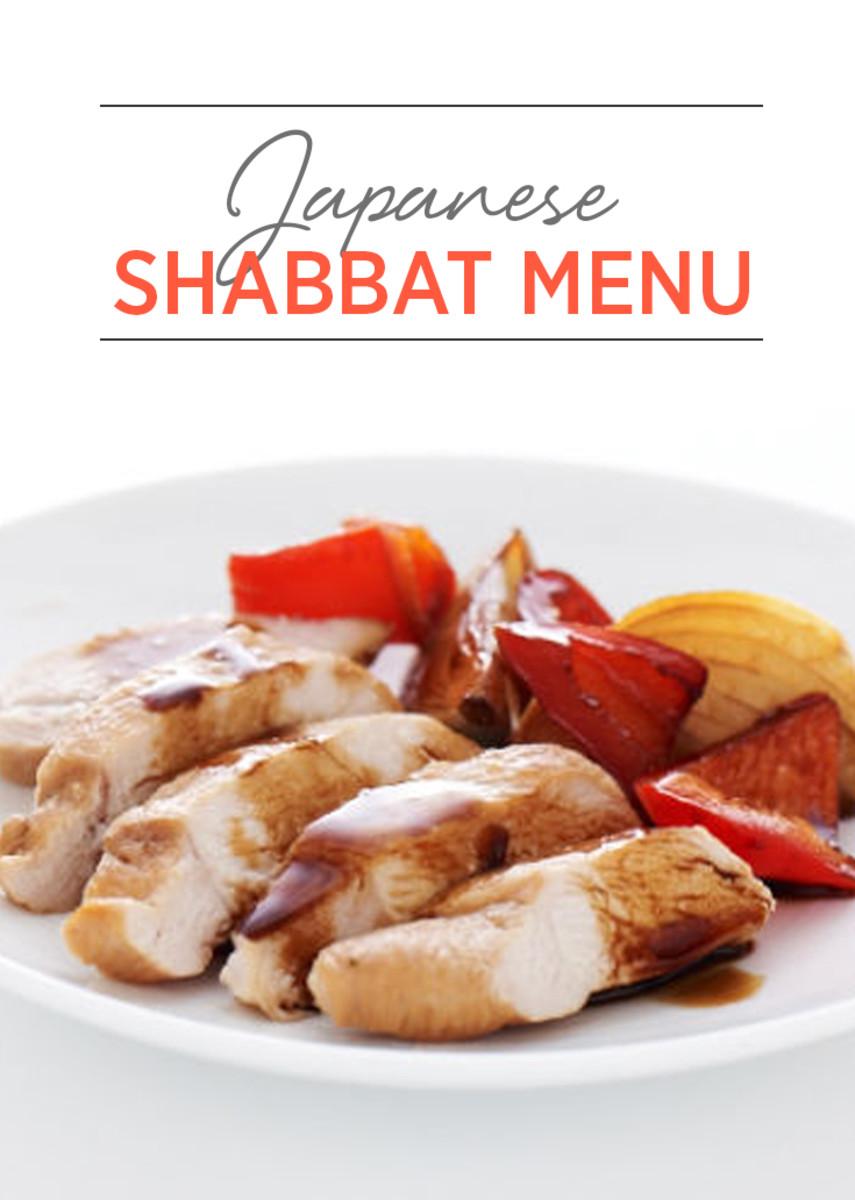 Japanese Shabbat Menu