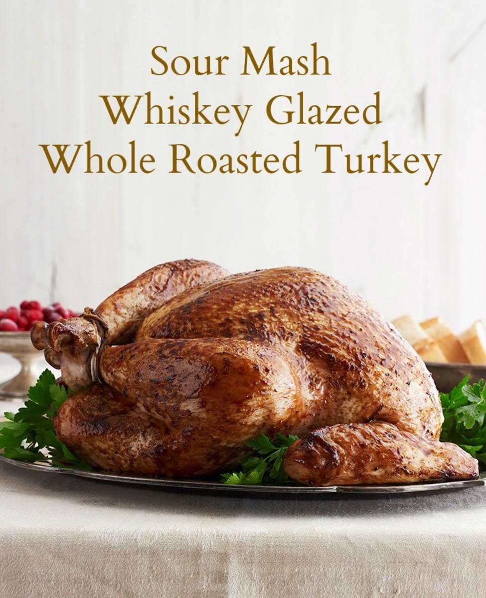 Sour Mash Whiskey Glazed Whole Roasted Turkey