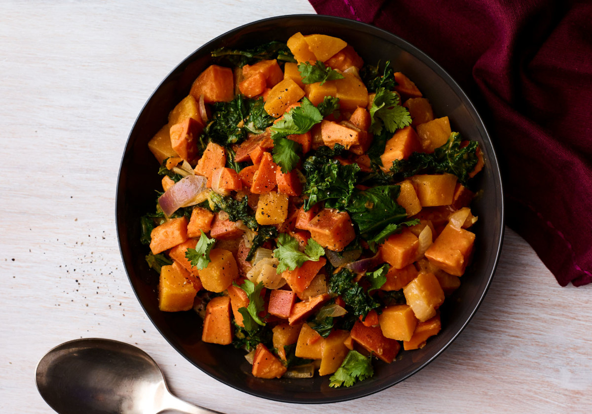 Autumnal Vegetables in Ginger-Coconut Curry