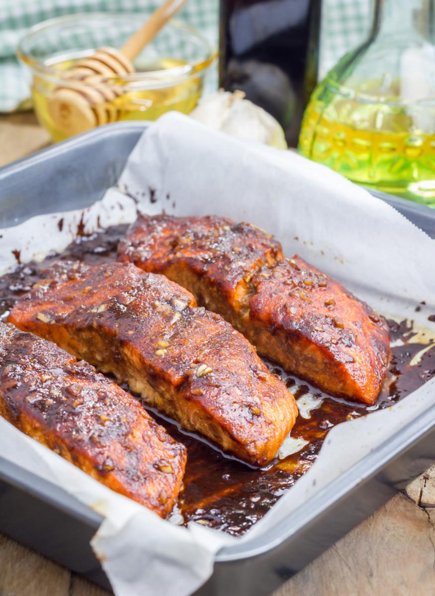 salmon with spice rub