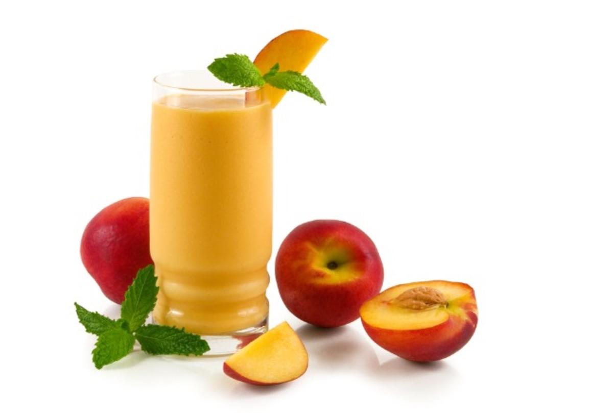 peaches and cream smoothies