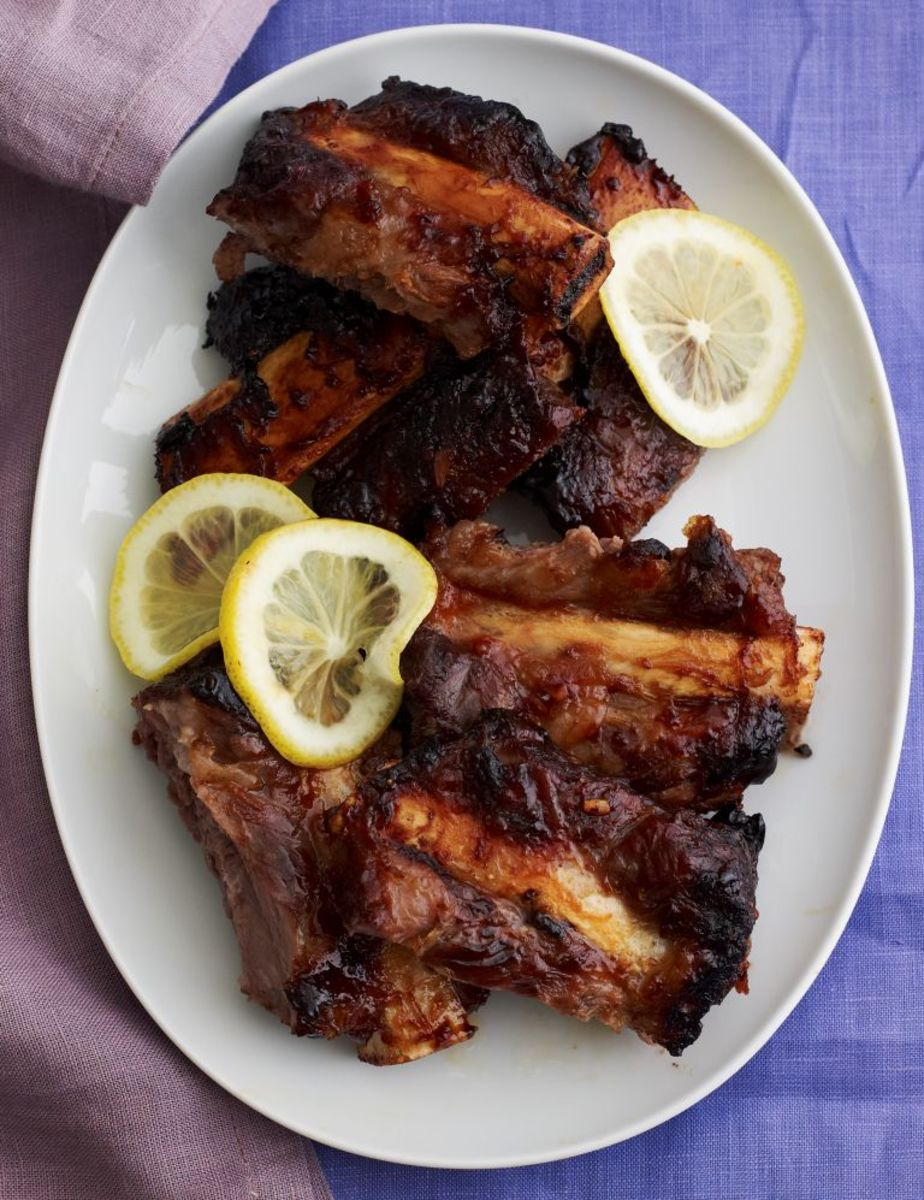 glazed beef spare ribs