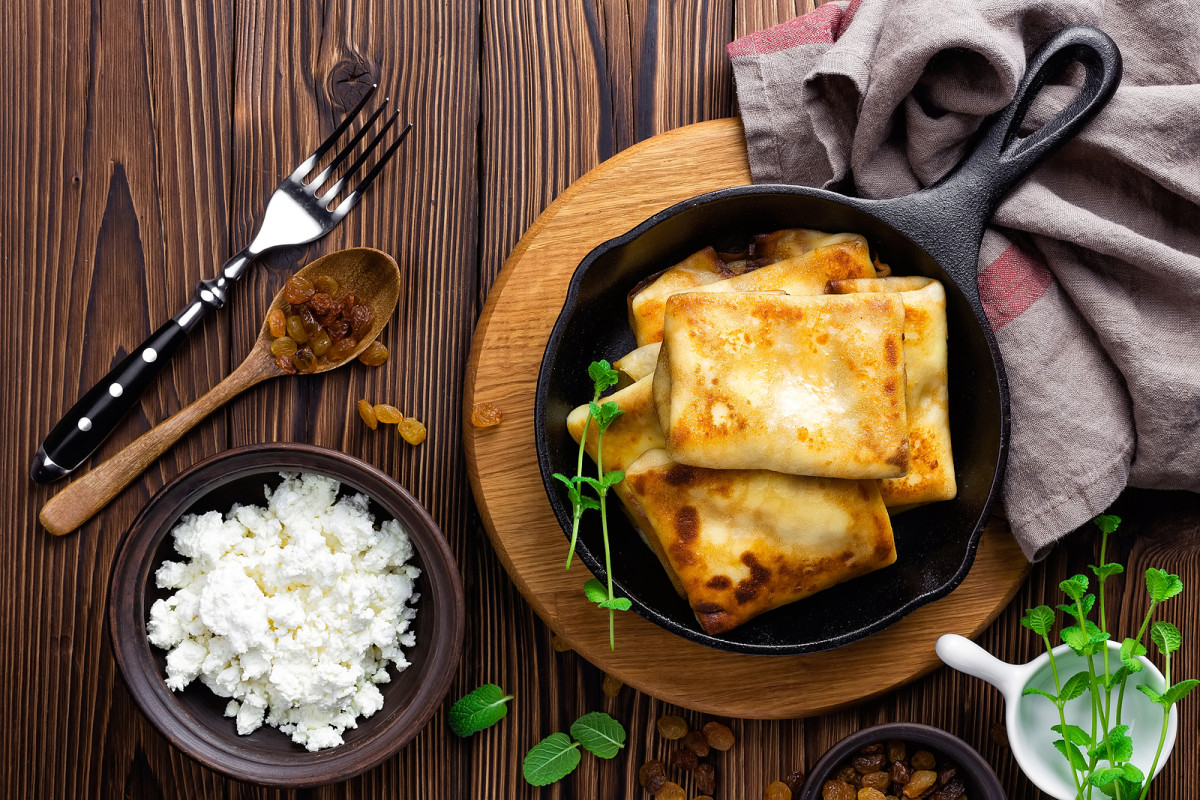 Herb Ricotta Crepes