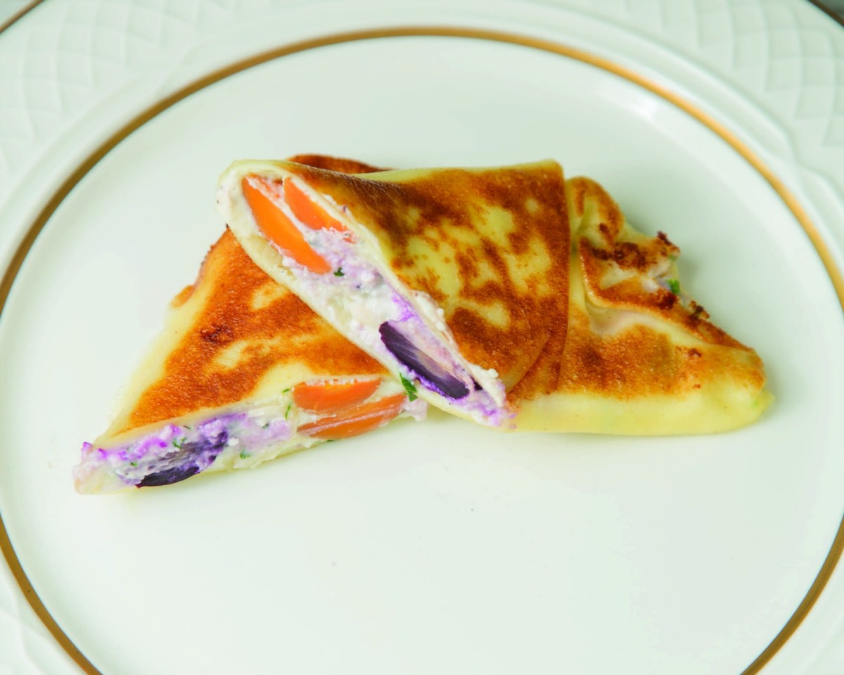 Roasted Carrot Crepes horizontal