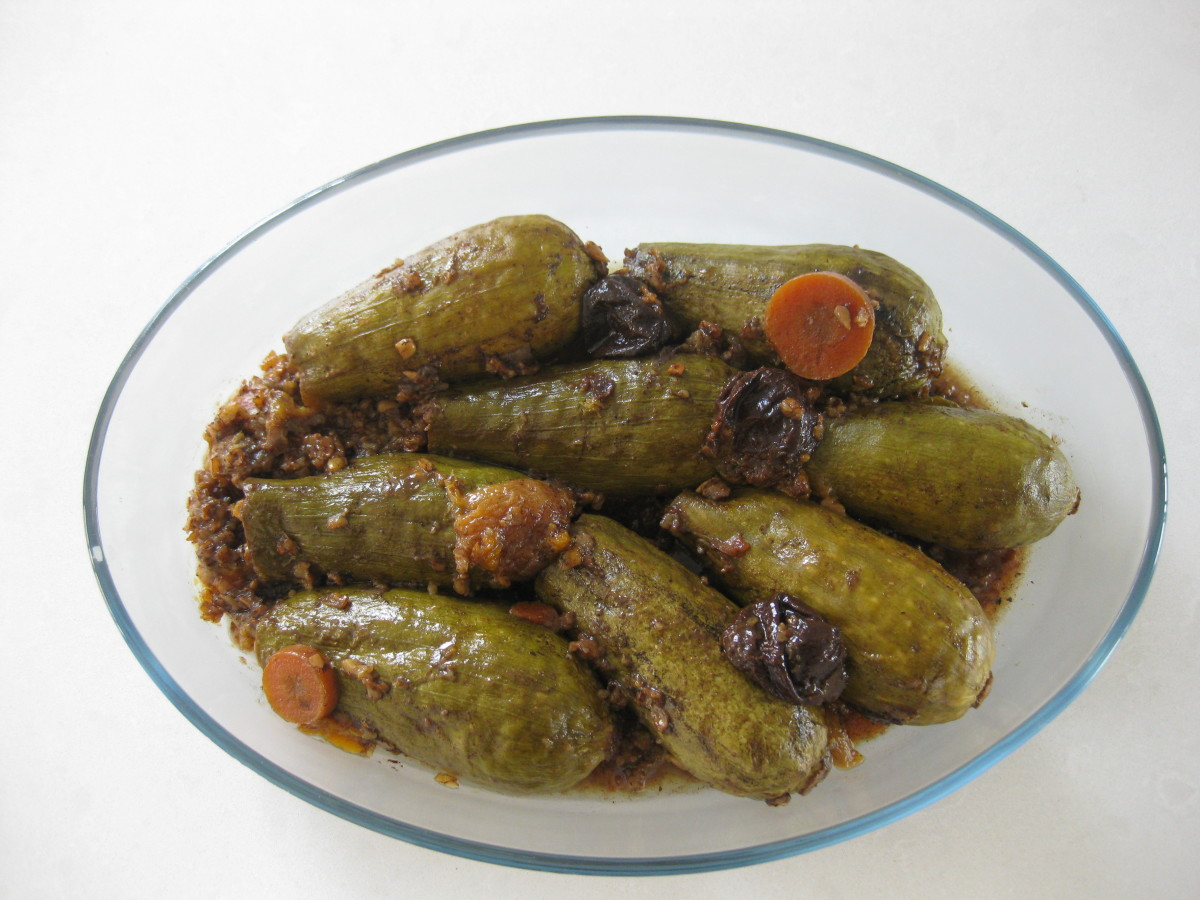 stuffed zuchinni kusa mekshi