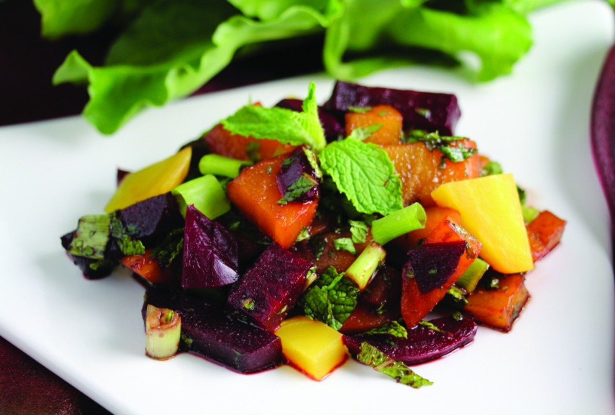 moroccan mint beet salad