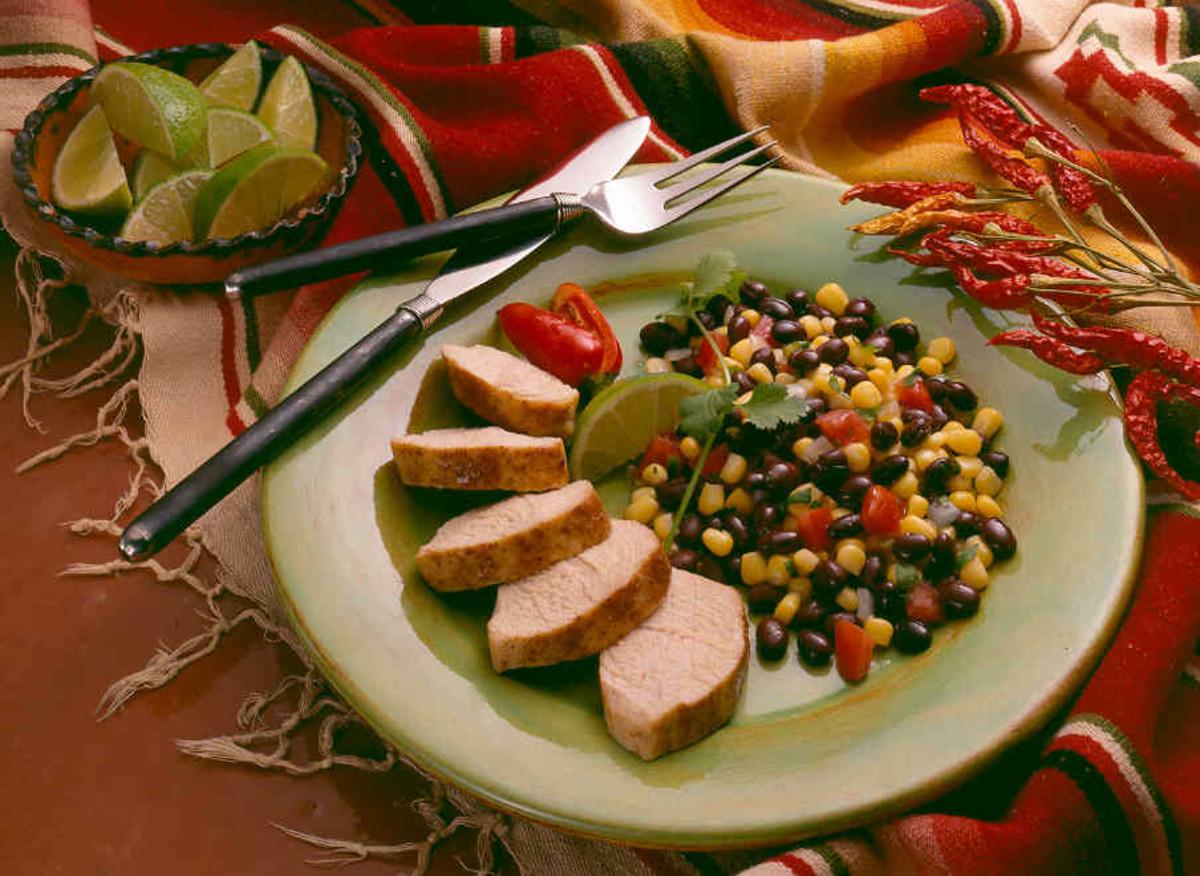 Spicy Turkey Tenderloins with Black Bean Salsa