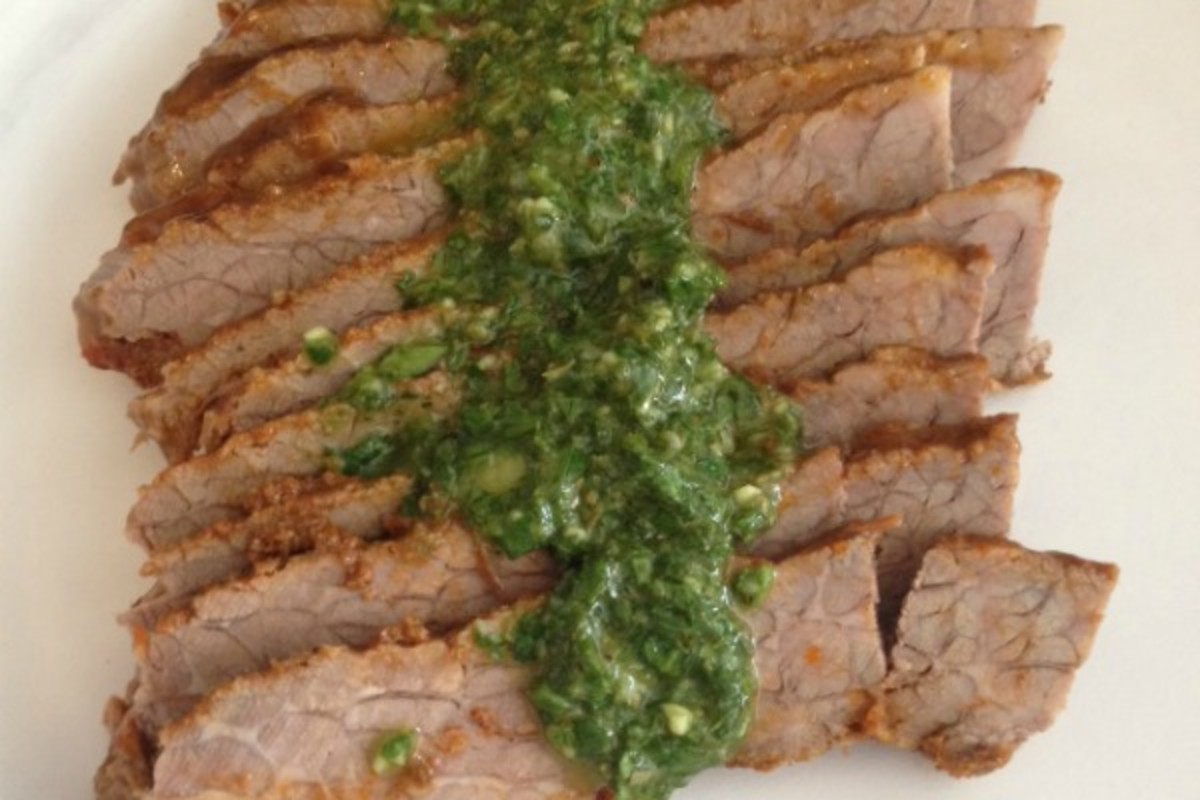 Argentinian Brisket with Chimichurri