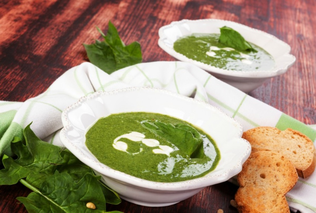 Spring Onion and Spinach Soup