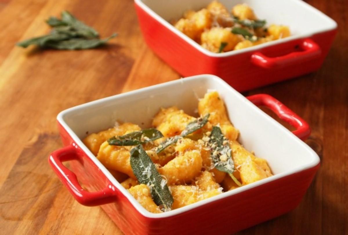 Passover Creamy Sweet Potato Gnocchi