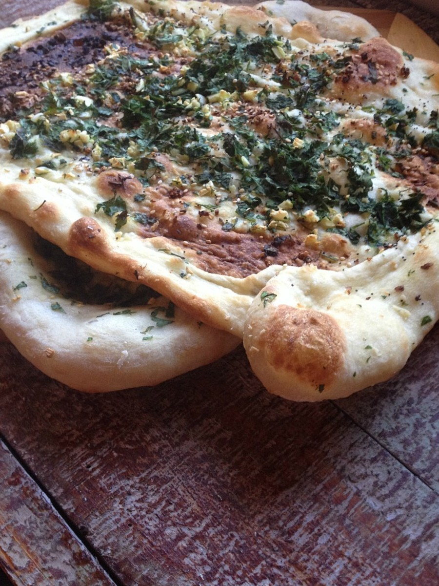 flat garlic bread