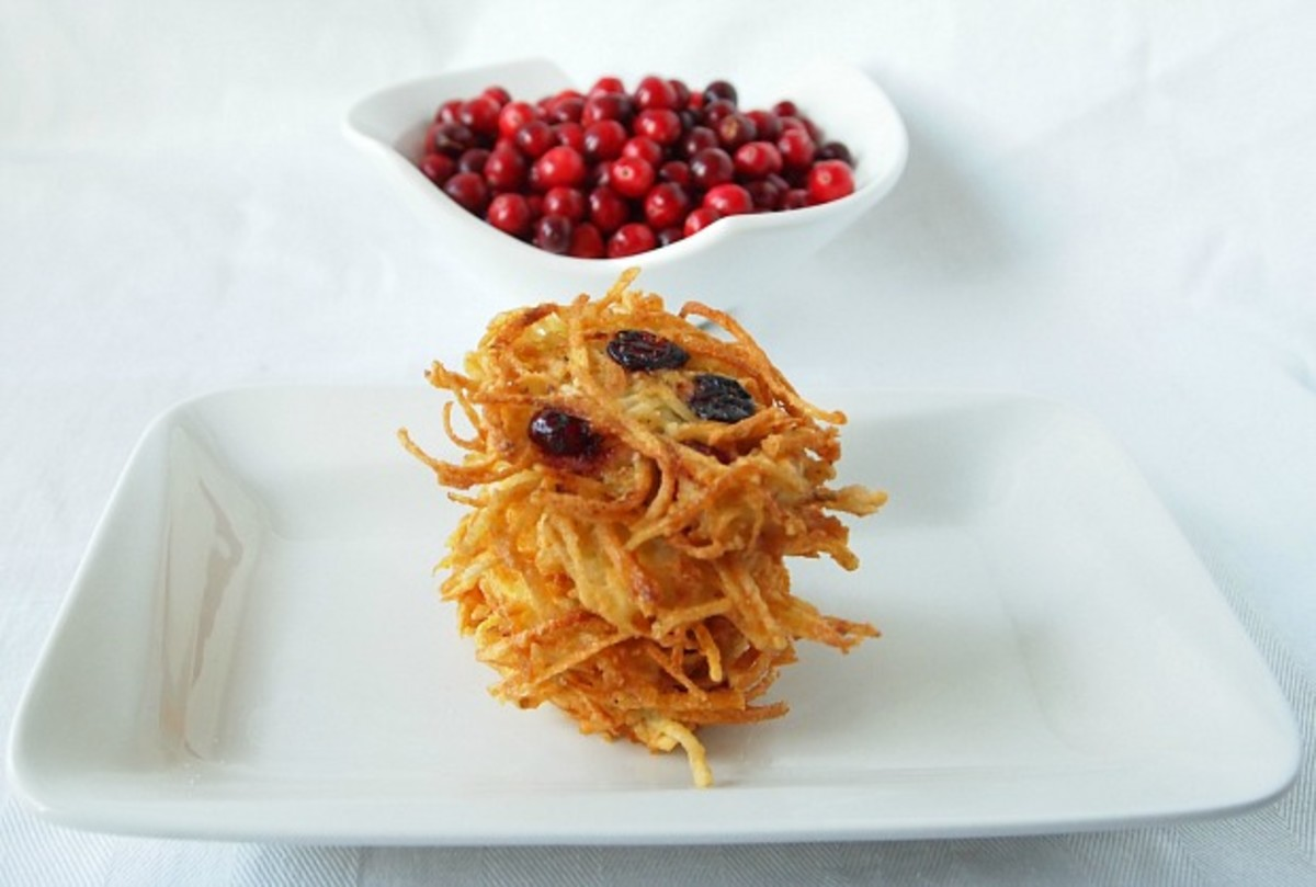 sweet or savory cranberry latkes