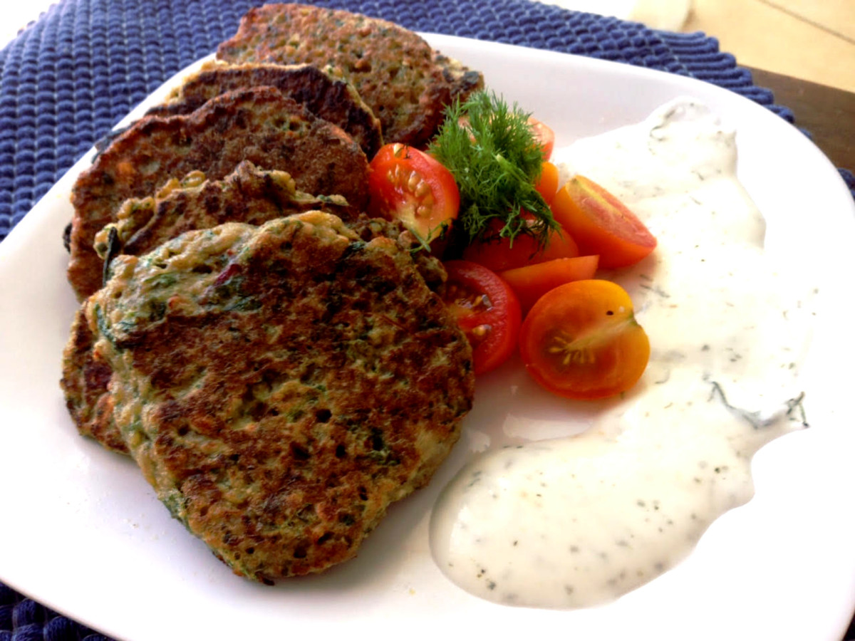Spinach and Bulgarit (feta) Quinoa Cashew Patties
