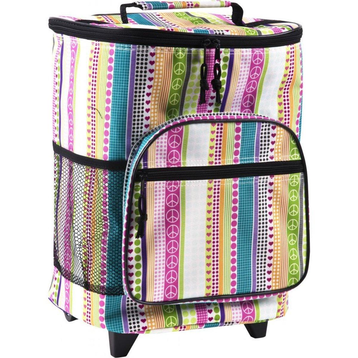 rolling picnic basket