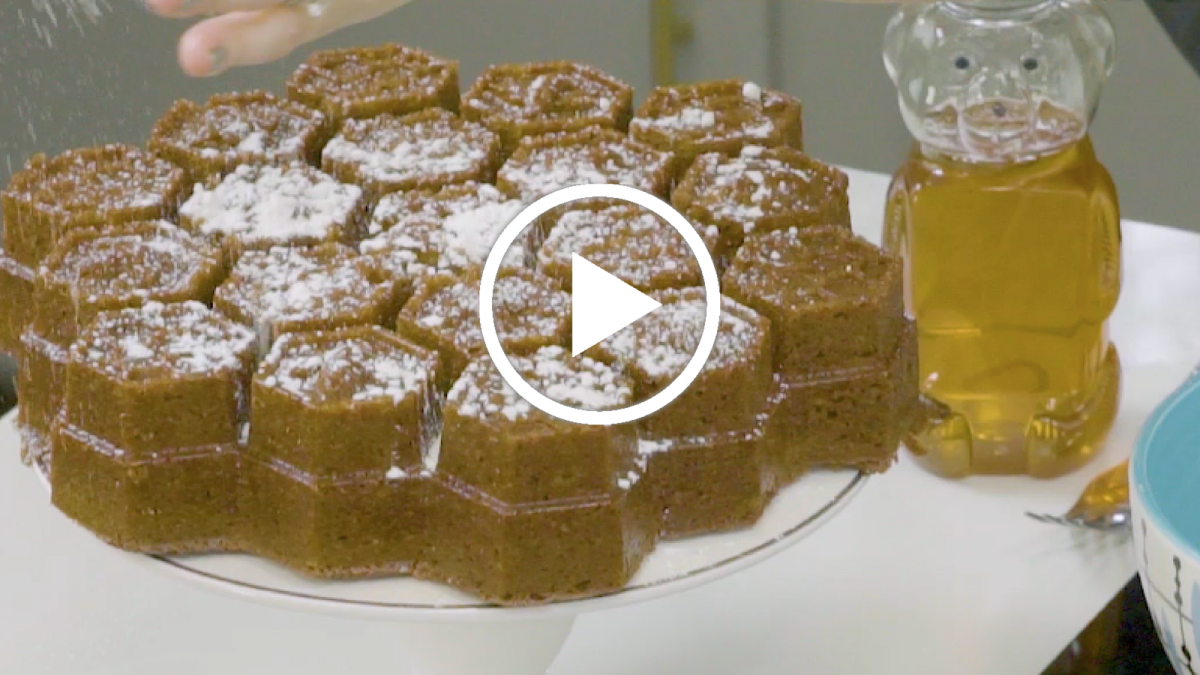 apples and honey cake video
