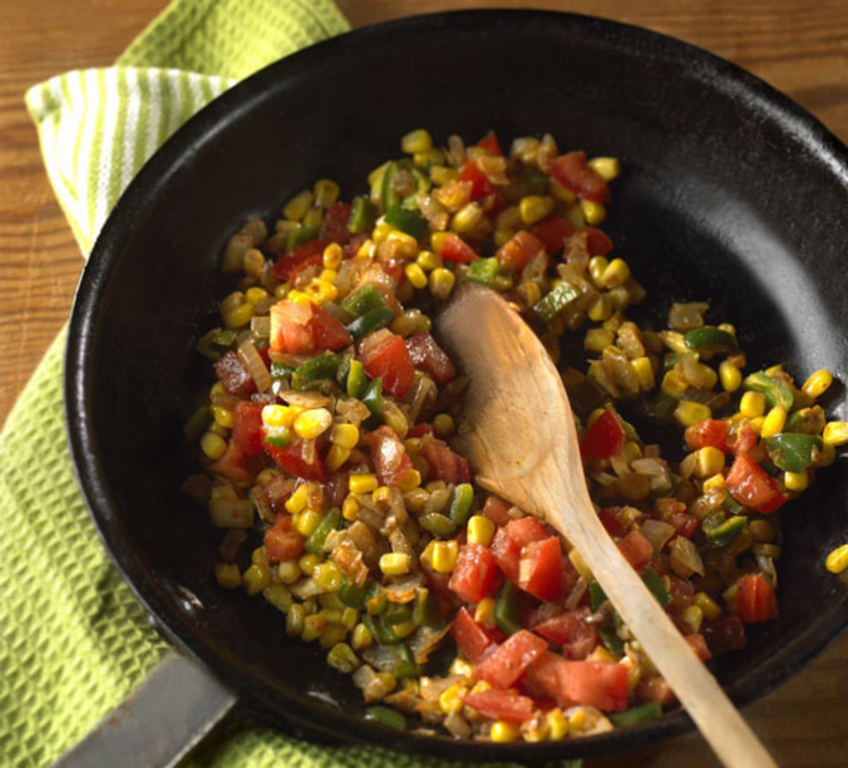Spicy Corn with Poblano Peppers