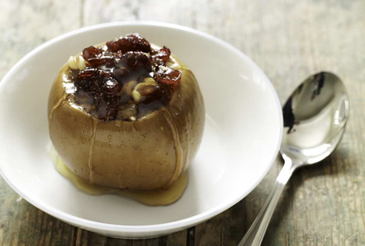 Walnut, Ginger and Cranberry Stuffed Apples