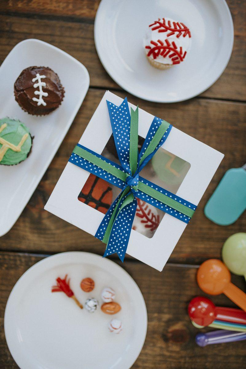 Sport cupcakes