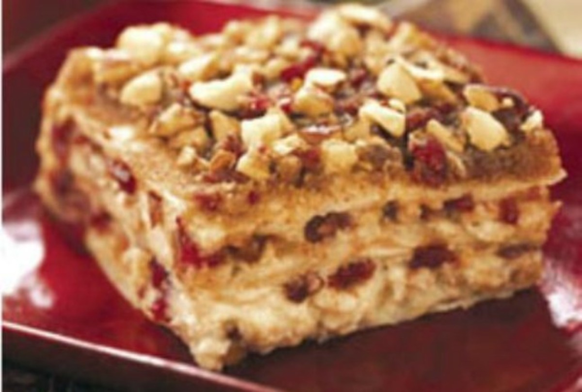 Cranberry & Pear Baklava