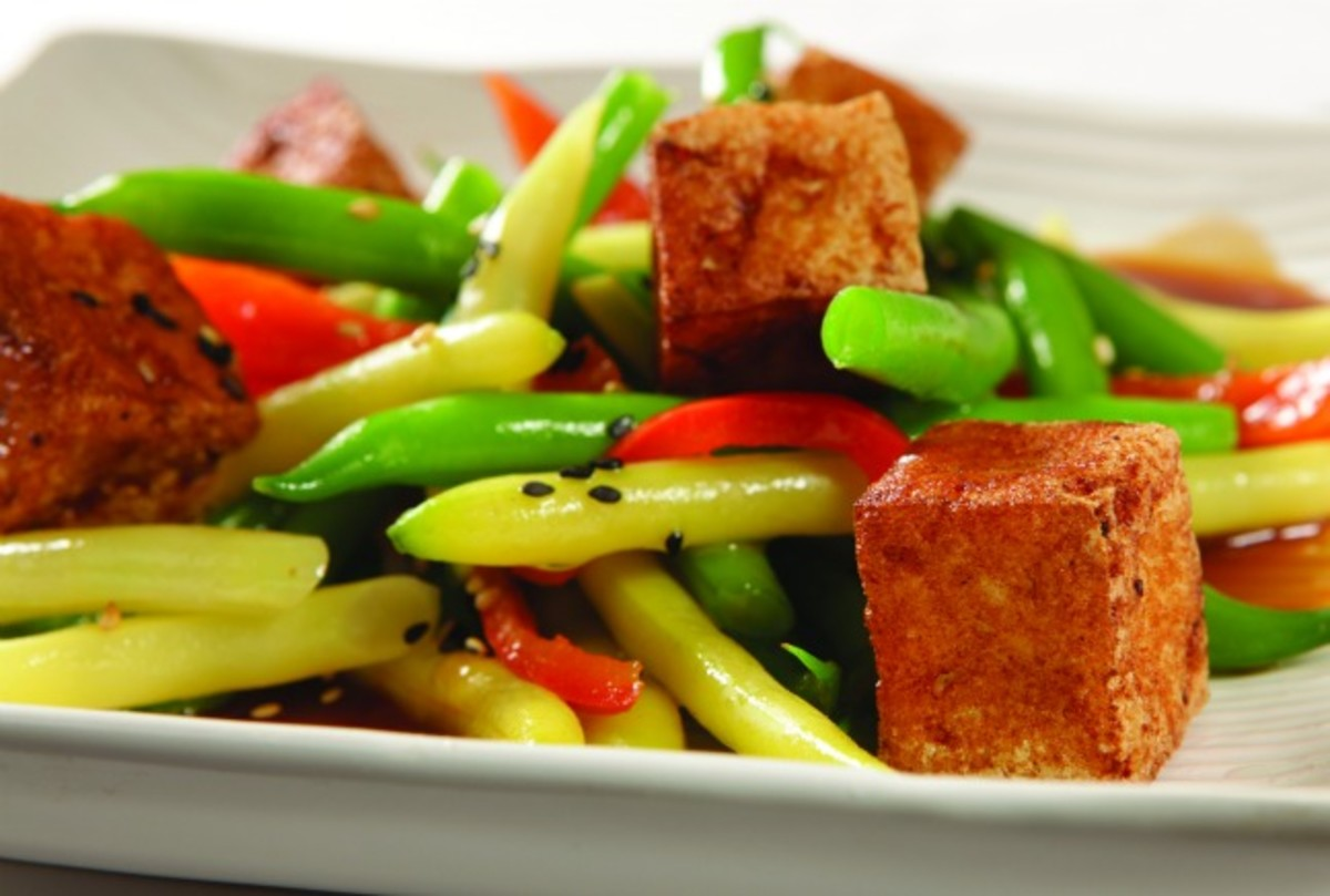 Jeff Nathan's String Bean and Tofu salad with Soy-Wasabi Vinaigrette