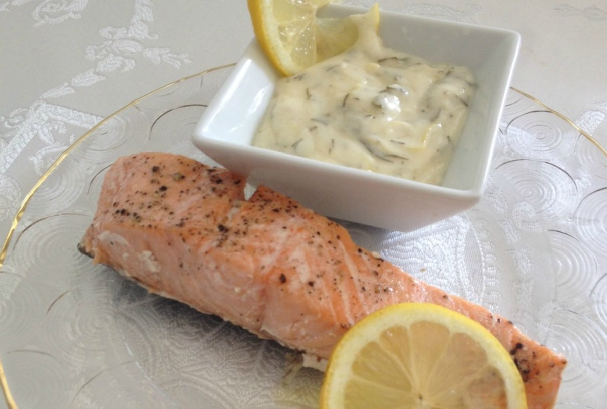 Salmon with Lemon Velvet Cream Sauce
