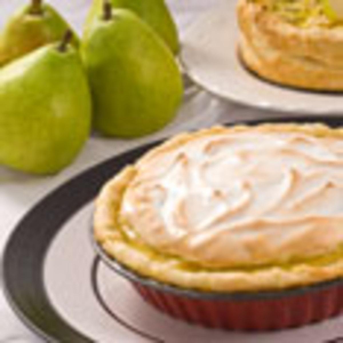 Green Anjou Meringue Pie
