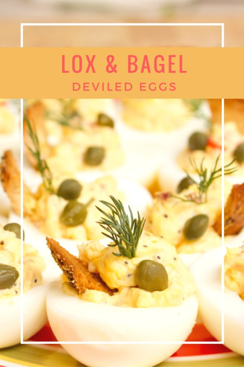LOX & BAGEL Deviled Eggs