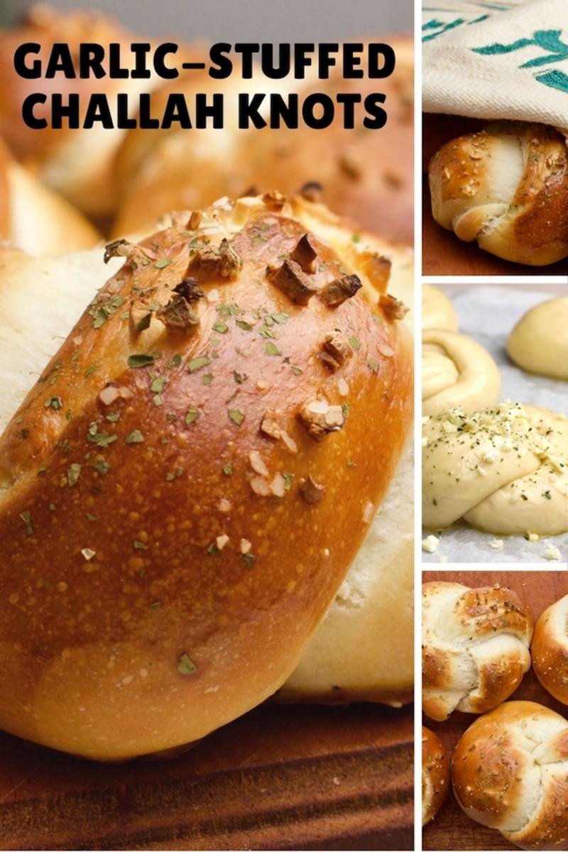 Garlic Challah Knots Pinterest