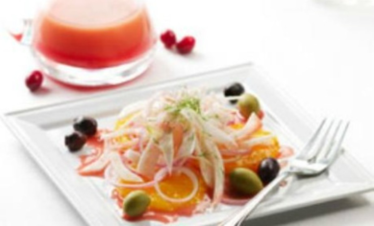 Orange, Olive and Fennel Salad with Cranberry Vinaigrette