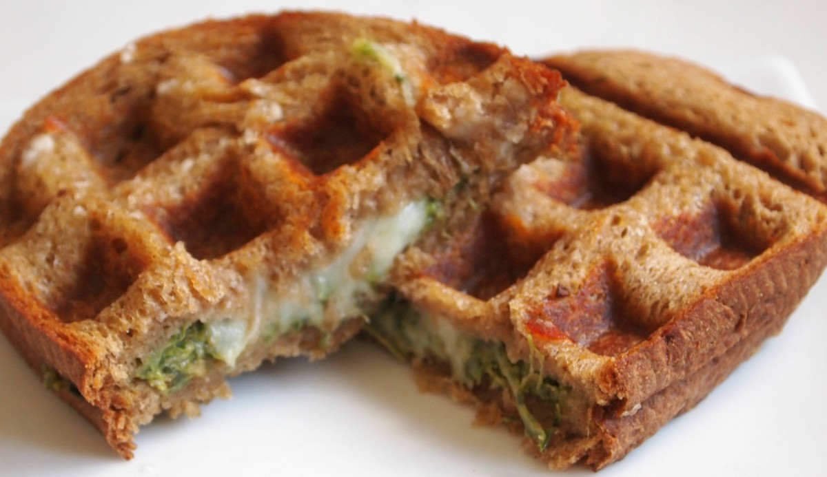 Grilled Cheese In a Waffle Maker