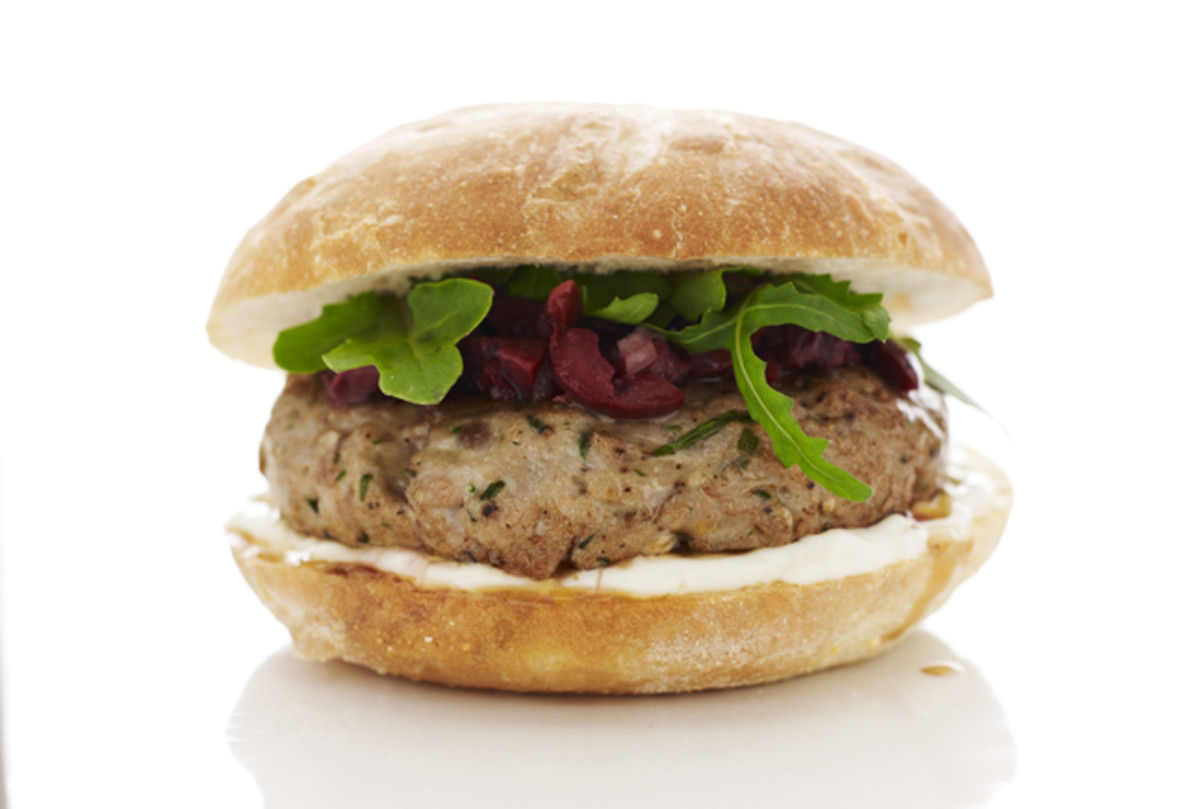 Mediterreanean Tuna Burger