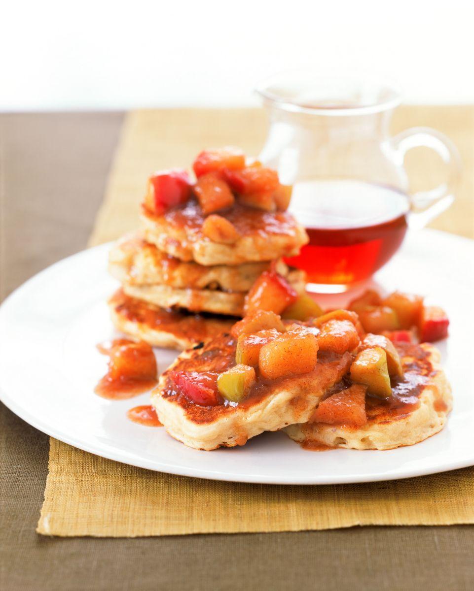 Apple Pancakes with Maple Apple Sauce