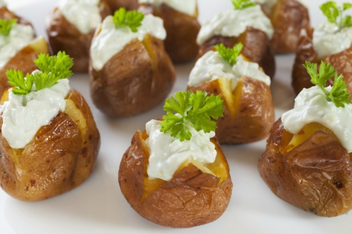 stuffed potato bar