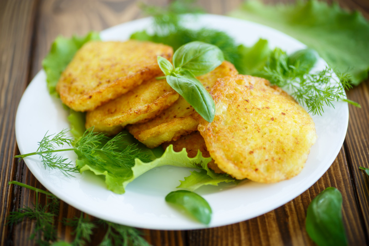 passover potato pancakes with dill