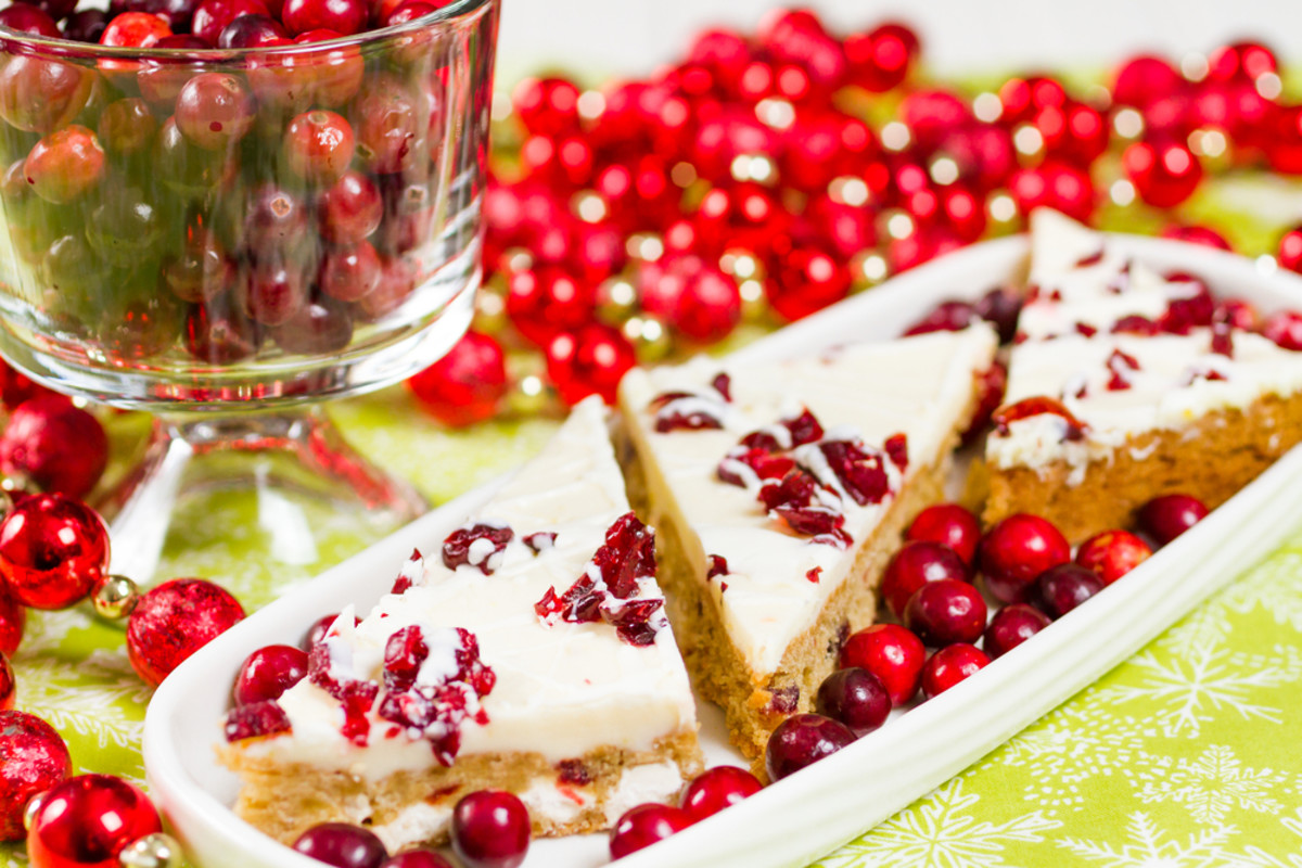 cranberry macadamia bars