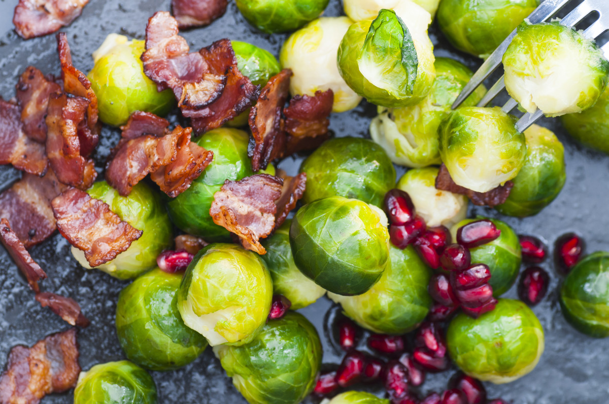 Brussels Sprouts and Beef Bacon